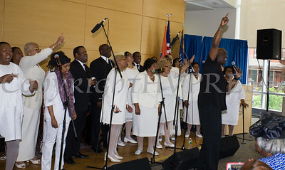 The Mount Carmel Choir of the Mount Carmel Church of Christ Disciples of Christ, under the direction of Maurice Williams, performs at Choral Sunday, sponsored by SUNY Orange in Newburgh, NY on Sunday, May 7, 2017. Hudson Valley Press/CHUCK STEWART, JR.