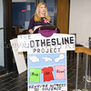Safe Homes of Orange County Executive Director Kellyann Kostyal-Larrier offers remarks as Safe Homes of Orange County kicked off Domestic Violence Awareness Month in Newburgh, NY on Monday, October 2, 2017. Hudson Valley Press/CHUCK STEWART, JR.