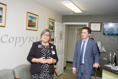 Cornerstone Family Healthcare President & CEO Linda Muller and New York State Assemblyman James Skoufis offer a tour following the completion of renovations and upgrades to Cornerstone's New Windsor facility on Wednesday, September 27, 2017. Hudson Valley Press/CHUCK STEWART, JR.