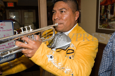 Mariachi Viva Mexico was invited to celebrate the grand opening of Francesca's Pizzeria & Restaurant in Montgomery on October 16, 2017. Hudson Valley Press/CHUCK STEWART, JR.