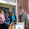 M&T Bank Regional President Mark Stellwag offers remarks as Habitat for Humanity of Greater Newburgh dedicated its 90th home on Friday, December 1, 2017. Hudson Valley Press/CHUCK STEWART, JR.