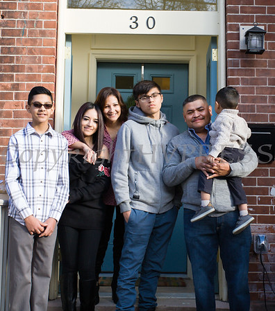 Habitat for Humanity of Greater Newburgh dedicated its 90th home to the Guevera-Perez family on Friday, December 1, 2017. Hudson Valley Press/CHUCK STEWART, JR.