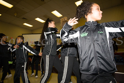Members of the Energy Dance Company perform as the Poughkeepsie Healthy Black and Latino Coalition celebrated Black History Month with a Healthy Living Expo at the Catherine Street Community Center in Poughkeepsie, NY on Saturday, February 25, 2017. Hudson Valley Press/CHUCK STEWART, JR.