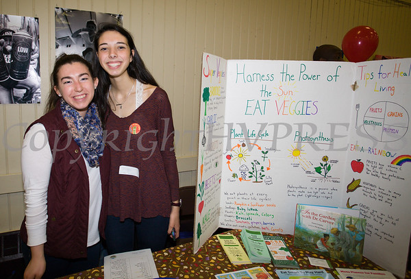 Maggie Caulfield and Maggie Lyman of the Poughkeepsie Farm Project handed out literature as the Poughkeepsie Healthy Black and Latino Coalition celebrated Black History Month with a Healthy Living Expo at the Catherine Street Community Center in Poughkeepsie, NY on Saturday, February 25, 2017. Hudson Valley Press/CHUCK STEWART, JR.