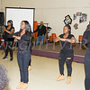 Members of the Poughkeepsie High School Step Team perform as the Poughkeepsie Healthy Black and Latino Coalition celebrated Black History Month with a Healthy Living Expo at the Catherine Street Community Center in Poughkeepsie, NY on Saturday, February 25, 2017. Hudson Valley Press/CHUCK STEWART, JR.