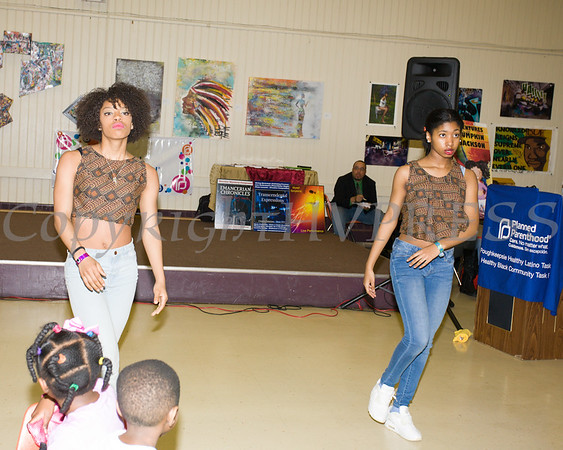 Members of the M*POWER Center for Cultural Fitness perform as the Poughkeepsie Healthy Black and Latino Coalition celebrated Black History Month with a Healthy Living Expo at the Catherine Street Community Center in Poughkeepsie, NY on Saturday, February 25, 2017. Hudson Valley Press/CHUCK STEWART, JR.