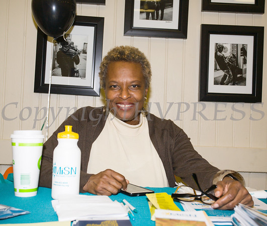 Arlette Murrain of Maternal Infant Services Network hands out literature as the Poughkeepsie Healthy Black and Latino Coalition celebrated Black History Month with a Healthy Living Expo at the Catherine Street Community Center in Poughkeepsie, NY on Saturday, February 25, 2017. Hudson Valley Press/CHUCK STEWART, JR.