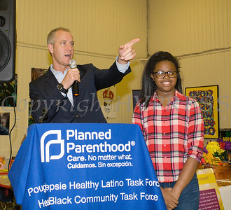 US Rep. Sean Patrick Maloney (NY-18) offers remarks as the Poughkeepsie Healthy Black and Latino Coalition celebrated Black History Month with a Healthy Living Expo at the Catherine Street Community Center in Poughkeepsie, NY on Saturday, February 25, 2017. Hudson Valley Press/CHUCK STEWART, JR.
