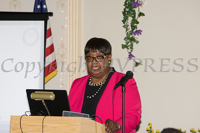 Patricia Claiborne introduced honoree Lana Williams-Scott during the 22nd Annual Orange County Human Rights Commission Awards Dinner held on Wednesday, April 19 at Kuhl's Highland House in Middletown. Hudson Press/CHUCK STEWART, JR.