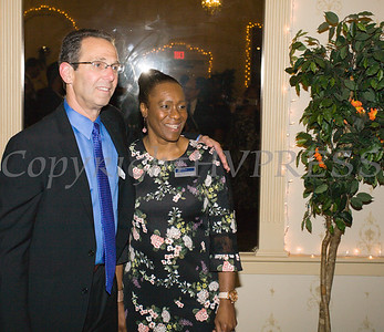 Honorees Dr. Ronald Israelski and Lana Williams-Scott at the 22nd Annual Orange County Human Rights Commission Awards Dinner held on Wednesday, April 19 at Kuhl's Highland House in Middletown. Hudson Press/CHUCK STEWART, JR.