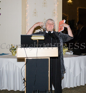 Rev. Dcn. Vonnie Hubbard offers the Benediction for the 22nd Annual Orange County Human Rights Commission Awards Dinner held on Wednesday, April 19 at Kuhl's Highland House in Middletown. Hudson Press/CHUCK STEWART, JR.