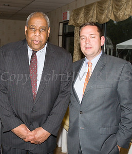Orange County Human Rights Commission Chair Fred Cook and Orange County Executive Steven Neuhaus at the 22nd Annual Orange County Human Rights Commission Awards Dinner held on Wednesday, April 19 at Kuhl's Highland House in Middletown. Hudson Press/CHUCK STEWART, JR.