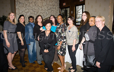 Honoree Lana Williams-Scott with members of Planned Parenthood Mid-Hudson Valley at the 22nd Annual Orange County Human Rights Commission Awards Dinner held on Wednesday, April 19 at Kuhl's Highland House in Middletown. Hudson Press/CHUCK STEWART, JR.