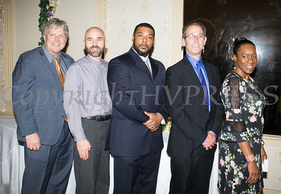 The 2017 Human Rights Commission Honorees: Christopher D. Watkins, Esq., Rev. Chris J. Antal, Abdullah N. Rahaman II, Dr. Ronald Israelski and Lana Williams-Scott were recognized at the 22nd Annual Orange County Human Rights Commission Awards Dinner held on Wednesday, April 19 at Kuhl's Highland House in Middletown. Hudson Press/CHUCK STEWART, JR.