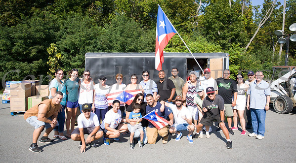 On Monday, September 25, volunteers at Cilantro's in New Windsor, NY organized donated items for transport to Puerto Rico to help those affected by Hurricane Maria. Hudson Valley Press/CHUCK STEWART, JR.