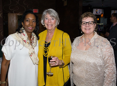Vanessar Tirado, Ruth-Ellen Blodgett and Mary Olivera enjoy the Latino Democratic Committee of Orange County Fourteenth Annual Fall Dinner Dance at Cafe Internationale in Newburgh, NY on Saturday, October 14, 2017. Hudson Valley Press/CHUCK STEWART, JR.