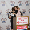 Diana Campos embraces Leadership Award recipient Annette Marzan during the Latino Democratic Committee of Orange County Fourteenth Annual Fall Dinner Dance at Cafe Internationale in Newburgh, NY on Saturday, October 14, 2017. Hudson Valley Press/CHUCK STEWART, JR.