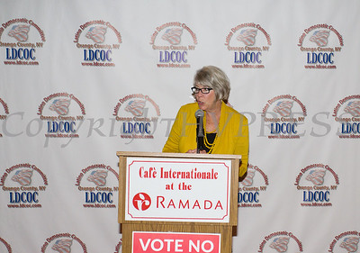 Ruth-Ellen Blodgett, President & CEO of Planned Parenthood Mid-Hudson Valley was the Keynote Speaker for the Latino Democratic Committee of Orange County Fourteenth Annual Fall Dinner Dance at Cafe Internationale in Newburgh, NY on Saturday, October 14, 2017. Hudson Valley Press/CHUCK STEWART, JR.