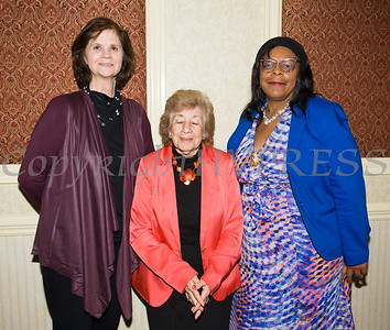 Pat Lewis, City of Newburgh Deputy Mayor Regina Angelo and City of Newburgh Councilwoman Cindy Holmes attended Latinos Unidos of the Hudson Valley 12th Annual Hispanic Heritage Cultural Celebration at Anthony's Pier 9 in New Windsor, NY on Friday, October 13, 2017. Hudson Valley Press/CHUCK STEWART, JR.