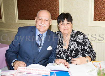 Latinos Unidos of the Hudson Valley President Peter Gonzalez and Executive Secretary Joanne Lugo at the organizations 12th Annual Hispanic Heritage Cultural Celebration at Anthony's Pier 9 in New Windsor, NY on Friday, October 13, 2017. Hudson Valley Press/CHUCK STEWART, JR.
