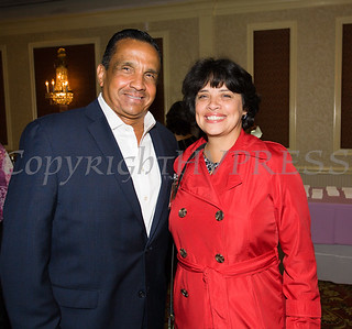 Ruben Estrada and State Supreme Court Justice Maria Vazquez-Doles attended Latinos Unidos of the Hudson Valley 12th Annual Hispanic Heritage Cultural Celebration at Anthony's Pier 9 in New Windsor, NY on Friday, October 13, 2017. Hudson Valley Press/CHUCK STEWART, JR.