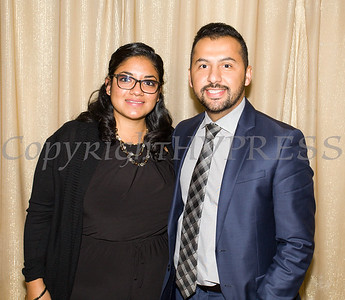 Ulster Savings Bank Newburgh Branch Manager Jose Lemus with his wife at Latinos Unidos of the Hudson Valley 12th Annual Hispanic Heritage Cultural Celebration at Anthony's Pier 9 in New Windsor, NY on Friday, October 13, 2017. Hudson Valley Press/CHUCK STEWART, JR.