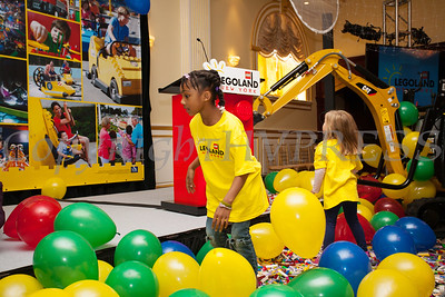 Children dive in the balloons to play with the lego's as Merlin Entertainment officially announced that LEGOLAND New York is being built on Wednesday, October 25, 2017. Hudson Valley Press/CHUCK STEWART, JR.