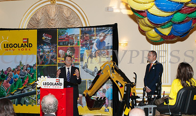 Merlin Entertainments Chief Executive Officer Nick Varney offers remarks as Merlin Entertainment officially announced that LEGOLAND New York is being built on Wednesday, October 25, 2017. Hudson Valley Press/CHUCK STEWART, JR.