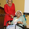 Meals on Wheels of Greater Newburgh founder Frederica Warner offers remarks on the organizations 45th anniversary and her 100th birthday on Sunday, November 19, 2017 at the Powelton Club in Newburgh, NY. Hudson Valley Press/CHUCK STEWART, JR.