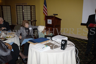 Meals on Wheels of Greater Newburgh founder Frederica Warner celebrated her 100th birthday on Sunday, November 19, 2017 at the Powelton Club in Newburgh, NY. Hudson Valley Press/CHUCK STEWART, JR.