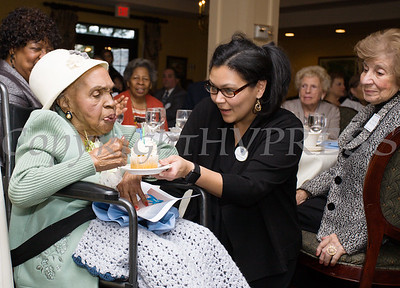 Meals on Wheels of Greater Newburgh celebrated its 45th anniversary and its founder, Frederica Warner's 100th birthday on Sunday, November 19, 2017 at the Powelton Club in Newburgh, NY. Hudson Valley Press/CHUCK STEWART, JR.
