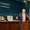 New York State Comptroller Thomas DiNapoli addressed the Orange County Chamber of Commerce on Friday, November 17, 2017 in Montgomery, NY. Hudson Valley Press/CHUCK STEWART, JR.