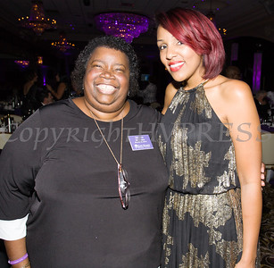 Melanie Richards, Secretary of the Board of Directors and Associate Director Sarita Green enjoy the Celebration of Hope Masquerade Ball on Friday, October 20, 2017. Hudson Valley Press/CHUCK STEWART, JR.