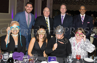 Diahan Scott, Michael Limperopulos, April Gozza, Patrick Murphy, Linda Muller, David Jolly, Regina McGrade and Rev. Nelson McAllister representing Cornerstone Family Healthcare as Safe Homes of Orange County celebrated its 31st Anniversary with a Celebration of Hope Masquerade Ball on Friday, October 20, 2017. Hudson Valley Press/CHUCK STEWART, JR.