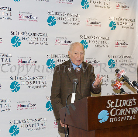 New York State Senator William Larkin (R-Cornwall-on-Hudson) secured an $8 million state grant for St. Luke's Cornwall Hospital in Newburgh to expand and upgrade its emergency department. Hudson Valley Press/CHUCK STEWART, JR.
