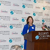 St. Luke's Cornwall Hospital Assistant Vice President Marketing and Public Relations Katherine Dabroski introduces speakers as the hospital announces a major expansion and upgrade to its emergency department in Newburgh, NY. Hudson Valley Press/CHUCK STEWART, JR.