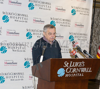 William Kaplan offers remarks as St. Luke's Cornwall Hospital in Newburgh announced a major expansion and upgrade to its emergency department. Hudson Valley Press/CHUCK STEWART, JR.