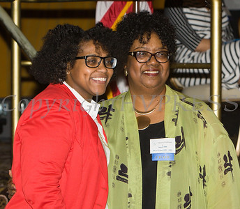 Honoree Kanisha Henderson with Patricia Claiborne at the 25th Annual Tribute to Women of Achievement of Orange County held at Anthony's Pier 9 in New Windsor, NY on Wednesday, May 19, 2017. Hudson Press/CHUCK STEWART, JR.