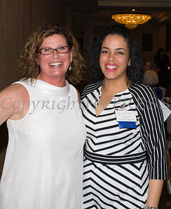 Christine Sadowski and Inaudy Esposito at the 25th Annual Tribute to Women of Achievement of Orange County held at Anthony's Pier 9 in New Windsor, NY on Wednesday, May 19, 2017. Hudson Press/CHUCK STEWART, JR.