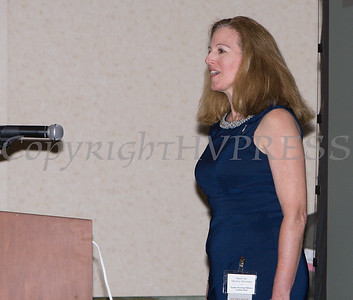 Master Sergeant MaryKay Messenger sings the National Anthem during the 25th Annual Tribute to Women of Achievement of Orange County held at Anthony's Pier 9 in New Windsor, NY on Wednesday, May 19, 2017. Hudson Press/CHUCK STEWART, JR.