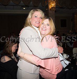 Honoree Darcie Miller and Dawn Wilkin at the 25th Annual Tribute to Women of Achievement of Orange County held at Anthony's Pier 9 in New Windsor, NY on Wednesday, May 19, 2017. Hudson Press/CHUCK STEWART, JR.