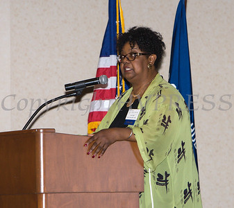 Patricia Claiborne offers remarks during the 25th Annual Tribute to Women of Achievement of Orange County held at Anthony's Pier 9 in New Windsor, NY on Wednesday, May 19, 2017. Hudson Press/CHUCK STEWART, JR.