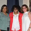 Girl Scouts Heart of the Hudson CFO and Acting CEO Patricia Page, Honoree Kanisha Henderson and YWCA Orange County Executive Director Christine Sadowski at the 25th Annual Tribute to Women of Achievement of Orange County held at Anthony's Pier 9 in New Windsor, NY on Wednesday, May 19, 2017. Hudson Press/CHUCK STEWART, JR.