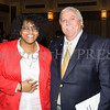 Honoree Kanisha Henderson and Orange County Legislator James Kulisek at the 25th Annual Tribute to Women of Achievement of Orange County held at Anthony's Pier 9 in New Windsor, NY on Wednesday, May 19, 2017. Hudson Press/CHUCK STEWART, JR.