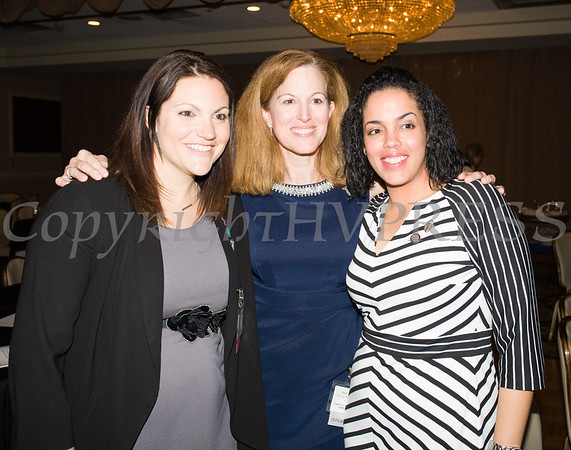 Amy Trapini-Frisbie, MaryKay Messenger and Inaudy Esposito at the 25th Annual Tribute to Women of Achievement of Orange County held at Anthony's Pier 9 in New Windsor, NY on Wednesday, May 19, 2017. Hudson Press/CHUCK STEWART, JR.