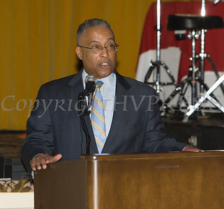 Eyewitness News reporter Anthony Johnson served as the Master of Ceremonies for the 19th Annual Tuition Assistance Awards Celebration of the Major General Irene Trowell-Harris Chapter of the Tuskegee Airmen held on Saturday, February 4, 2017 at Anthony's Pier 9 in New Windsor, NY. Hudson Valley Press/CHUCK STEWART, JR.
