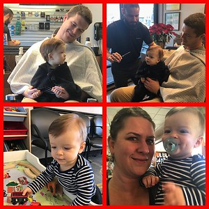 Connor's first haircut