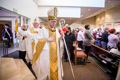 Bishop Thomas J. Olmsted dedicates new renovations at St. Andrew the Apostle Catholic Church on Sunday, October 29, 2017 in Chandler, Arizona.