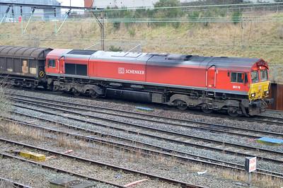 66118 1121/6m13 Dollands Moor-Ditton passes Crewe Salop.
