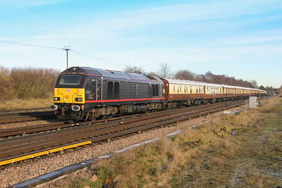67005 Worting Junction 12/12/17 1Z82 London Victoria to Salisbury with 67024 on the rear